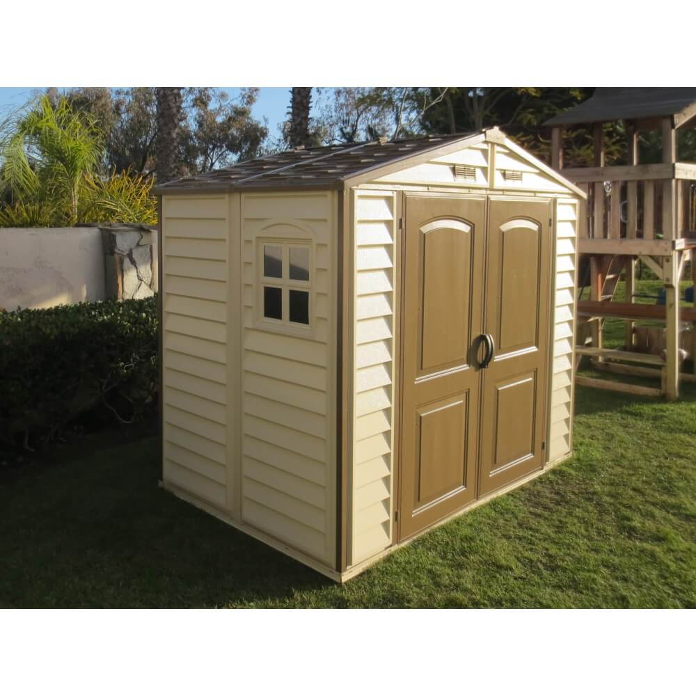 abri de jardin pvc duramax woodstyle m mypiscine. Black Bedroom Furniture Sets. Home Design Ideas