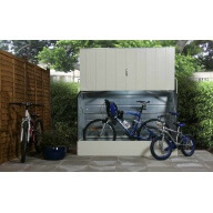 Abri à vélos Bicycle Store, crème