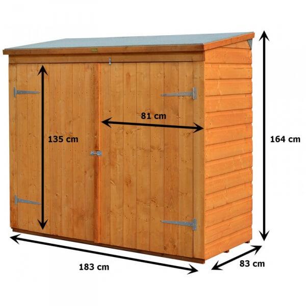 abri v lo coffre de rangement en bois rowlinson mypiscine. Black Bedroom Furniture Sets. Home Design Ideas