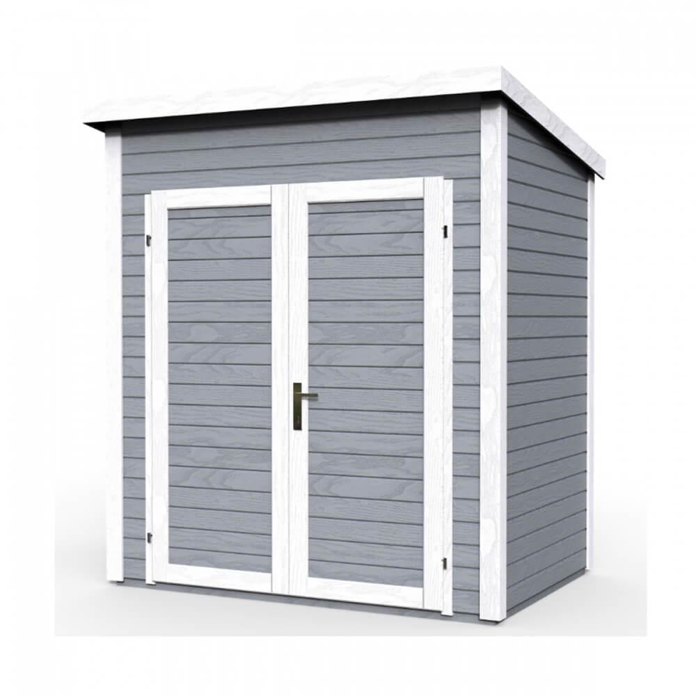 abri de jardin en bois 14 mm skur 1 gris mypiscine. Black Bedroom Furniture Sets. Home Design Ideas