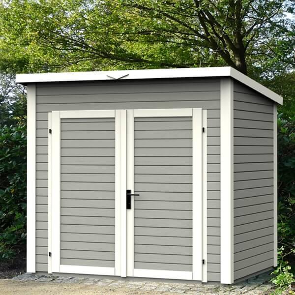abri de jardin en bois 14 mm skur 4 gris mypiscine. Black Bedroom Furniture Sets. Home Design Ideas
