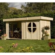 Abri de jardin en bois 19 mm Summerhouse Relax Naturel