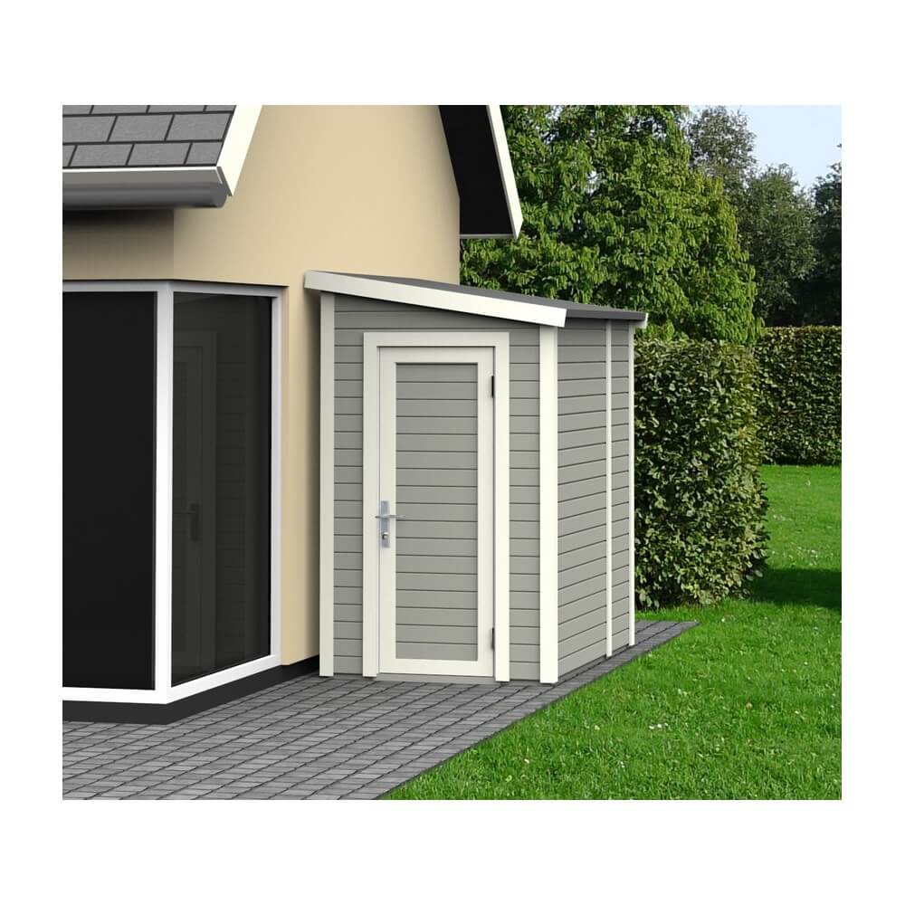 abri de jardin en bois 14 mm skive gris mypiscine. Black Bedroom Furniture Sets. Home Design Ideas