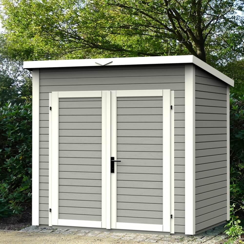 abri de jardin en bois 14 mm skur 3 gris mypiscine. Black Bedroom Furniture Sets. Home Design Ideas