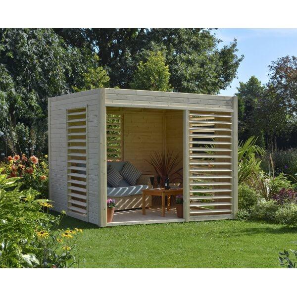 abri de jardin en bois 19 mm summerhouse arty mypiscine. Black Bedroom Furniture Sets. Home Design Ideas