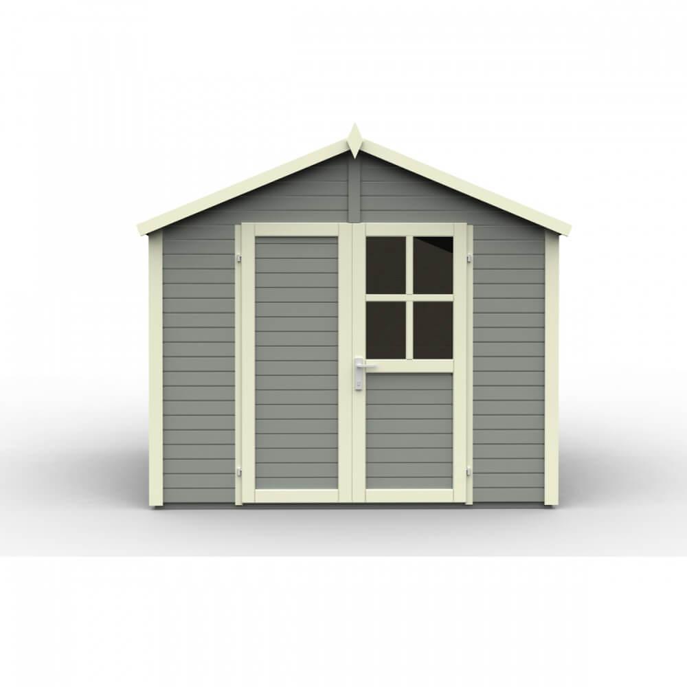 abri de jardin en bois 19 mm sonderborg 3 gris mypiscine. Black Bedroom Furniture Sets. Home Design Ideas