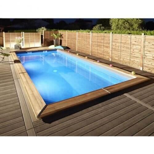 piscine bois rectangulaire ma va 500 mypiscine. Black Bedroom Furniture Sets. Home Design Ideas