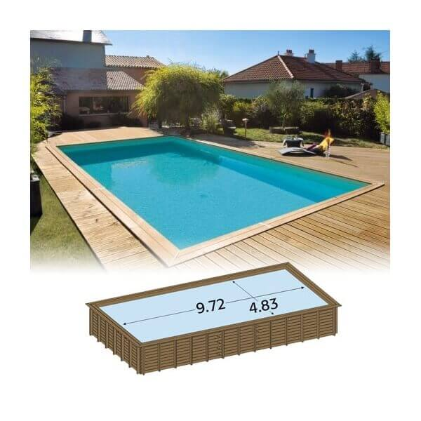 Piscine bois rectangulaire ma va 1000 mypiscine for Piscine durapin