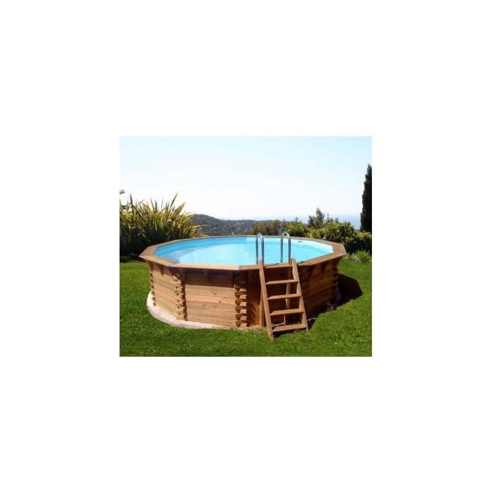 Piscine bois ma va 400 400 x cm mypiscine for Poolfolie 400 x 120