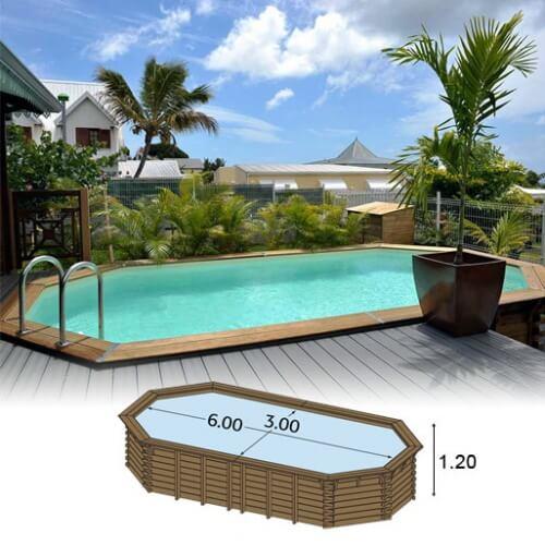 piscine bois ma va 600 x 300 x cm mypiscine. Black Bedroom Furniture Sets. Home Design Ideas