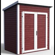Abri de jardin en bois Skur 1 Rouge - 2,19 m²