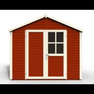 Abri de jardin en bois Sonderborg 3 Rouge - 5,82 m²