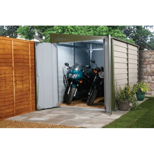 Garage motos en m tal titan 960 mypiscine for Amenagement garage moto