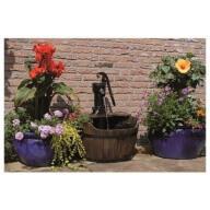Kit fontaine de jardin Ubbink Newcastle bois