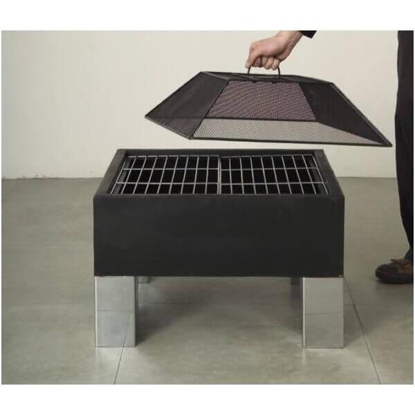 brasero square brazier mypiscine. Black Bedroom Furniture Sets. Home Design Ideas