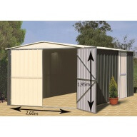 Garage métal Colorbond 18.05 m²