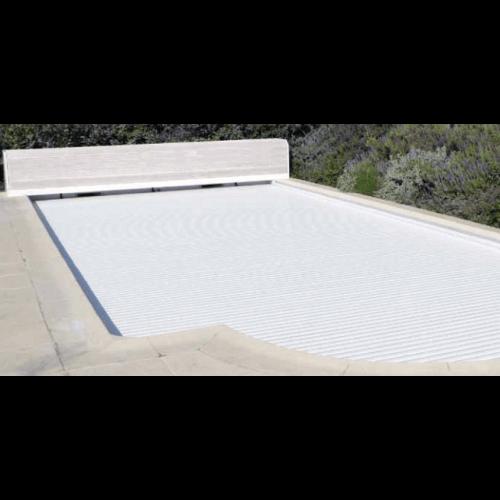 Volet de piscine automatique avec banc pvc mypiscine for Volet roulant piscine motorise
