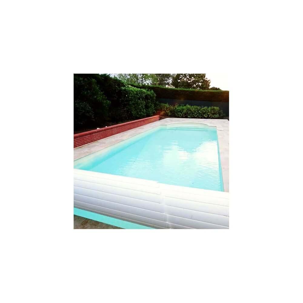 Volet de piscine automatique avec banc bois mypiscine - Prix volet roulant piscine 8x4 ...