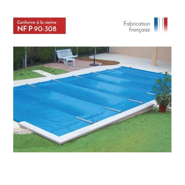B che barres excel plus beige opaque pour piscine 11 x 5 m for Bache a barre pour piscine