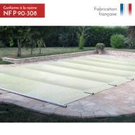 Bâche à barres de sécurité piscine Littoral 650g/m²