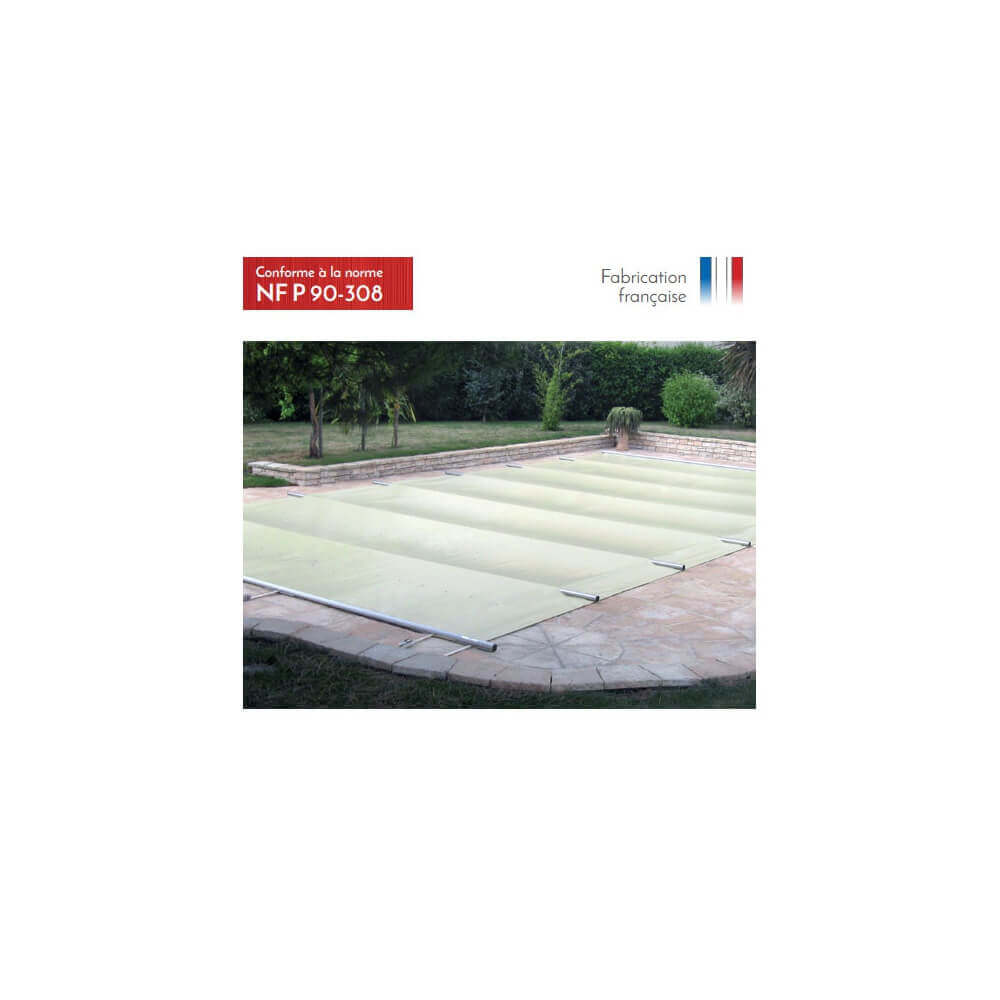 b che barres littoral beige opaque pour piscine 12 x 6 m. Black Bedroom Furniture Sets. Home Design Ideas