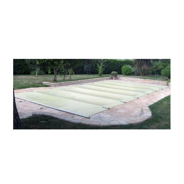 B che barres littoral beige opaque pour piscine 12 x 6 m - Bache a barre pour piscine ...