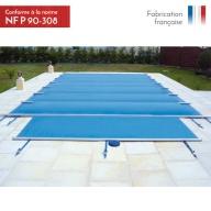 Bâche à barres de sécurité piscine Summum 580g/m²