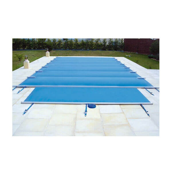 B che barres access beige opaque pour piscine 12 x 5 m for Bache de securite pour piscine