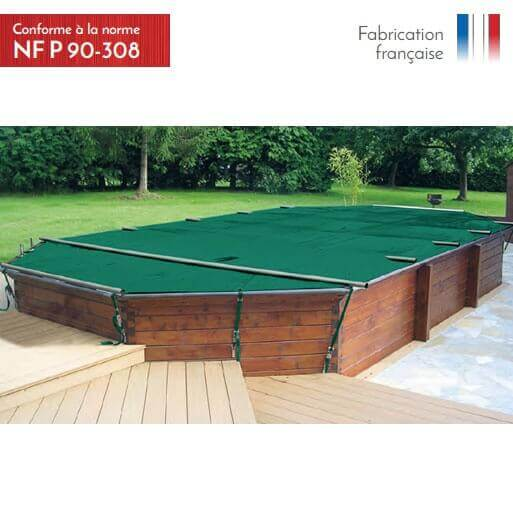 B che barres woody mypiscine for Couverture piscine 4 saisons