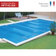 Bâche à barres de sécurité piscine Access 580g/m²