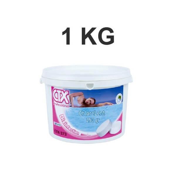 chlore lent de piscine ctx 373 1 kg en galets 250 gr mypiscine. Black Bedroom Furniture Sets. Home Design Ideas