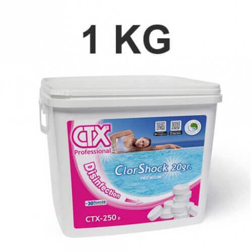 Chlore choc 1 kg pastilles de 20 gr mypiscine - Pastille chlore piscine gonflable ...