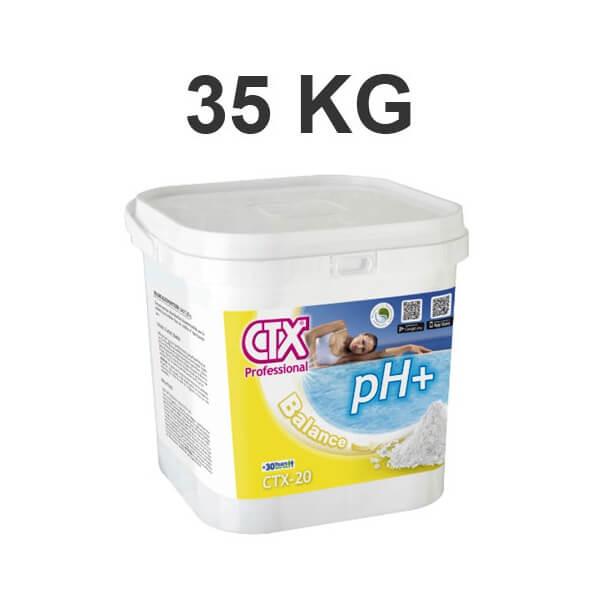 Ph plus pour piscine en granul s ctx 20 seau de 35 kg for Augmenter le ph piscine