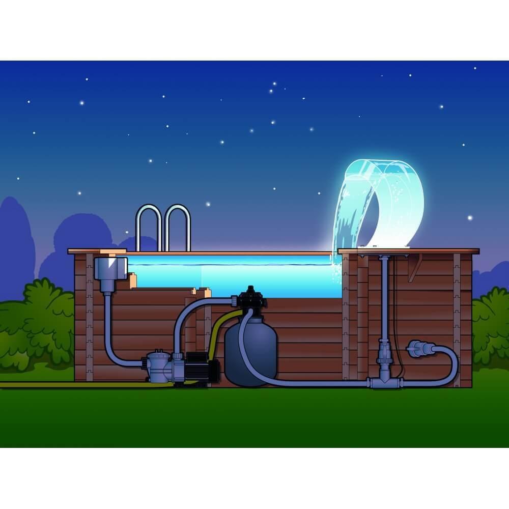 cascade de piscine mamba acrylique led mypiscine. Black Bedroom Furniture Sets. Home Design Ideas