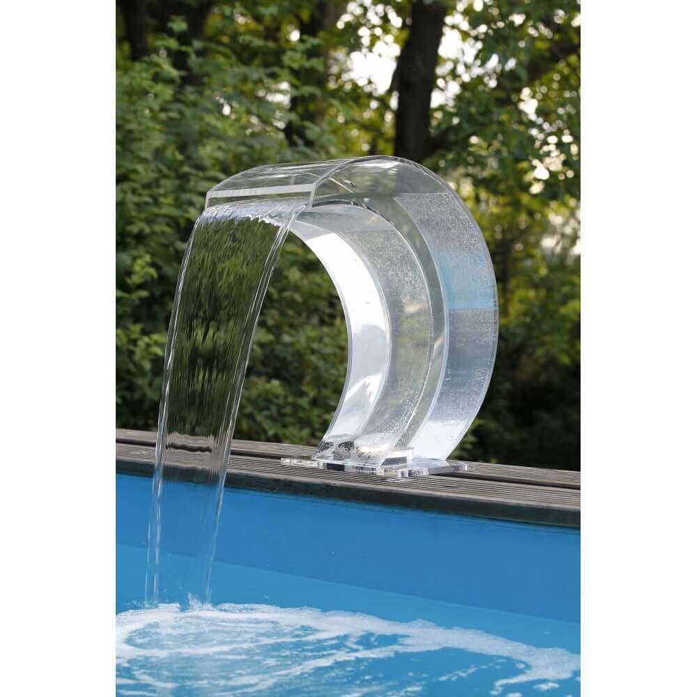 Cascade de piscine mamba acrylique led mypiscine - Cascade pour piscine ...