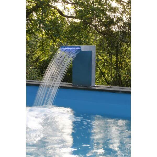 Cascade de piscine straight led mypiscine for Cascade piscine