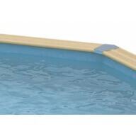 Liner piscine Ubbink 300 x 550 cm x H.120 cm - 75/100ème - Bleu
