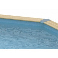 Liner piscine Ubbink 400 x 820 cm x H.130 cm - 75/100ème - Bleu
