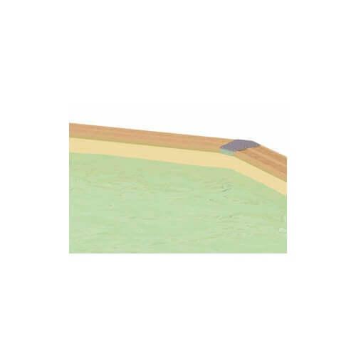 Liner piscine Ubbink 300 x 550 cm x H.120 cm - 75/100ème - Beige