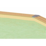 Liner piscine Ubbink 355 x 490 cm x H.130 cm - 75/100ème - Beige