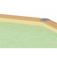 Liner piscine Ubbink 400 x 640 cm x H.130 cm - 75/100ème - Beige