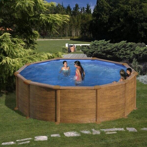 piscine hors sol mauritius 550 x h132 cm mypiscine. Black Bedroom Furniture Sets. Home Design Ideas