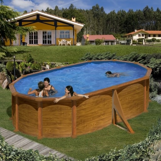 piscine hors sol gre mauritius 500 x 350 x h132 cm mypiscine. Black Bedroom Furniture Sets. Home Design Ideas