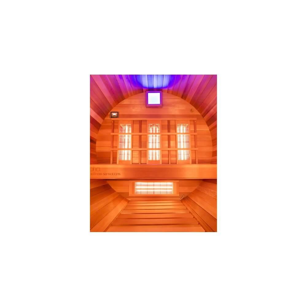 sauna ext rieur barrel infrarouge mypiscine. Black Bedroom Furniture Sets. Home Design Ideas
