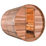 Sauna Extérieur Barrel Modèle Traditionnel 360 cm avec vestiaire