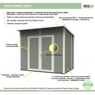 Abri de jardin en bois Skur 1 Gris Anthracite - 2,19 m²