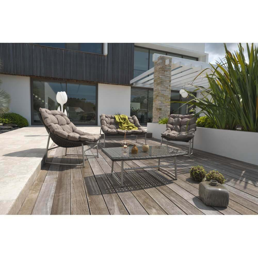 salon de jardin sydney en r sine tress e mypiscine. Black Bedroom Furniture Sets. Home Design Ideas