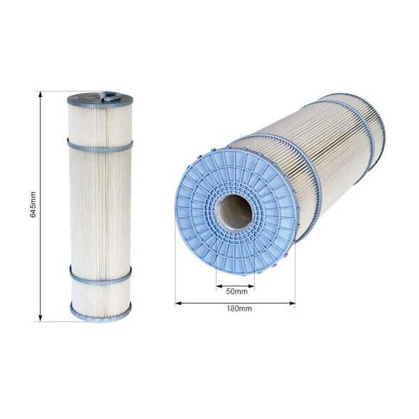 Cartouche filtrante c6 625 mm avec me non d montable for Cartouche filtrante piscine