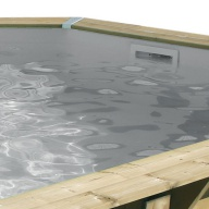 Liner piscine Ubbink Océa Ø510 x H.120 cm - 75/100ème - Gris