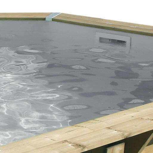 Liner pour piscine ubbink azura 355 x 550 x cm for Piscine hors sol liner gris